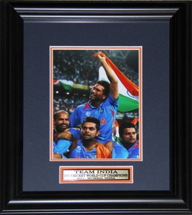 Team India 2011 Cricket Champion frame 8x12