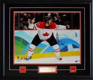 Sidney Crosby Team Canada Goal Yell 16x20 frame