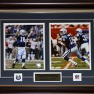 Peyton Manning Indianapolis Colts signed 2 photo frame