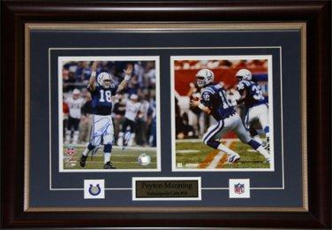 Peyton Manning Indianapolis Colts signed 2 photo frame