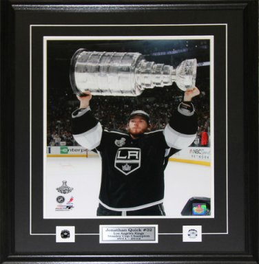 Jonathan Quick Los Angeles Kings Stanley Cup 16x20 frame