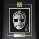 Gerry Cheevers Signed Mask 8x10 Photo Frame