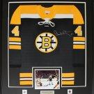 Bobby Orr Boston Bruins signed black jersey frame