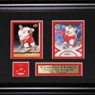 Gordie Howe Detroit Red Wings 2 Card frame