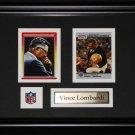 Vince Lombardi NFL 2 card frame