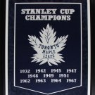 Toronto Maple Leafs Stanley Cups Large Banner frame
