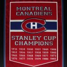 Montreal Canadiens Stanley Cups Large banner frame