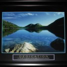Dedication Peaceful Water Lake Motivational large Frame
