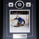 Johnny Bower Toronto Maple Leafs signed puck with 8x10 frame