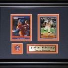 John Elway Denver Broncos 2 Card Frame