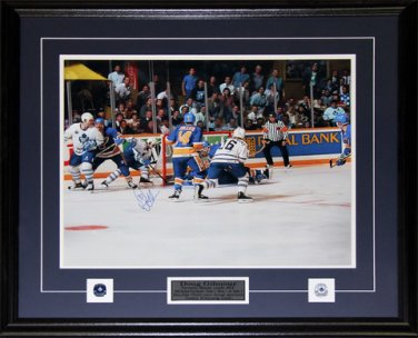 Doug Gilmour Toronto Maple Leafs Signed Overtime Goal 16x20 frame