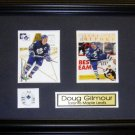 Doug Gilmour Toronto Maple Leafs 2 card frame