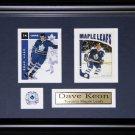 Dave Keon Toronto Maple Leafs 2 card frame