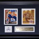Wayne Gretzky Edmonton Oilers 2 Card Frame