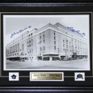 Toronto Maple Leaf Gardens 11x14 signed by Bower & Baun frame