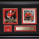 Tony Esposito Chicago Blackhawks 2 Card frame