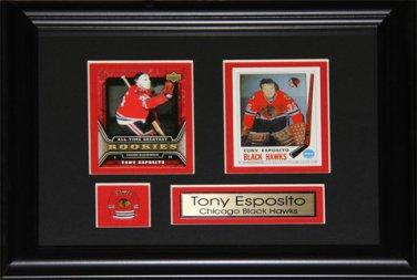Tony Esposito Chicago Blackhawks 2 Card frame