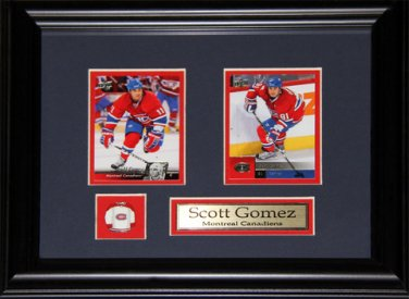 Scott Gomez Montreal Canadiens 2 Card Frame