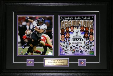 Ray Rice Baltimore Ravens Superbowl XLVII 2 photo frame