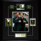 Mike Weir Tiger Woods Green Jacket 8x10 & Cards Frame
