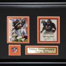 Mike Singletary Chicago Bears 2 card frame