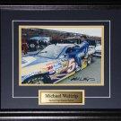 Michael Waltrip Nascar signed 8x10 frame