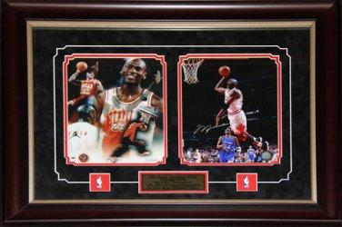 Michael Jordan Chicago Bulls 2 photo signed frame