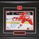 Henrik Zetterberg Detroit Red Wings Signed 8x10 frame