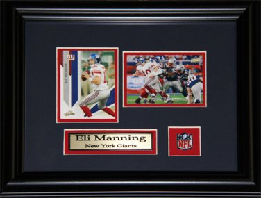 Eli Manning New York Giants 2 card frame