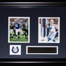 Peyton Manning Indianapolis Colts 2 card frame