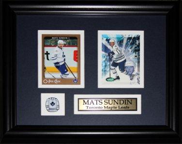 Mats Sundin Toronto Maple Leafs 2 card frame