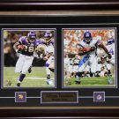 Adrian Peterson Minnesota Vikings Signed 2 Photo Frame