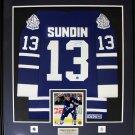 Mats Sundin Toronto Maple Leafs signed jersey frame