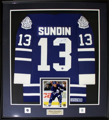 Mats Sundin Toronto Maple Leafs signed jersey frame