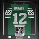 Joe Namath New York Jets signed jersey frame