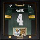 Brett Favre Green Bay Packers signed jersey frame