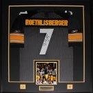 Ben Roethlisberger Pittsburgh Steelers signed jersey frame