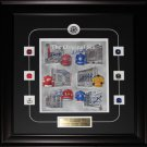 Original Six Arena's Print signed by Cournoyer Shack Kelly Cheevers Pilote Howel