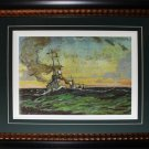 Mine Sweeper At Sea - 1917 Canada Art frame