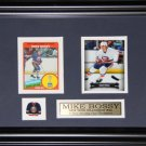 Mike Bossy New York Islanders 2 Card Frame