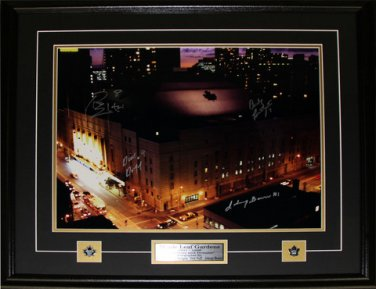 Maple Leaf Gardens 16x20 signed by Ellis, Bathgate Duff & Bower