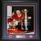 Jean Beliveau Montreal Canadiens Signed 16x20 Frame