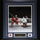 Jean Beliveau & Johnny Bower signed 16x20 frame