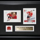 Bobby Hull Chicago Blackhawks 2 card frame
