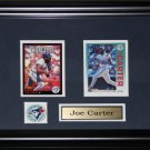 Joe Carter Toronto Blue Jays 2 card frame