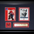 Gump Worsley Montreal Canadiens NHL 2 card frame