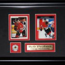 Bob Probert Chicago Blackhawks NHL 2 Card frame