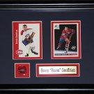 "Bernie ""Boom Boom"" Geoffrion Montreal Canadiens 2 card frame"