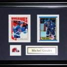 Michel Goulet Quebec Nordiques 2 card frame