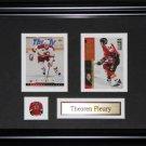 Theoren Fleury Calgary Flames 2 card frame